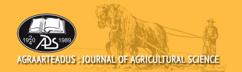 AGRAARTEADUS : Journal of Agricultural Science 1 * XXVIII * 2017